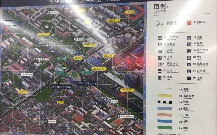 Subway map above