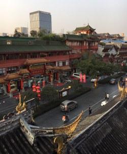chengdu - qin tai road vom hotel gesehen