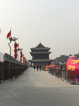 xi'an city wall with ornaments for chinese ny