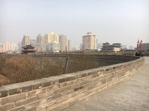 xi'an corner of city wall