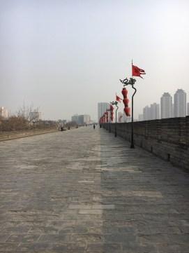 xi'an long, long city wall