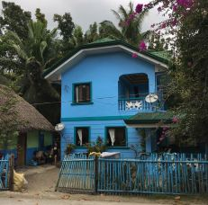 donsol blue house