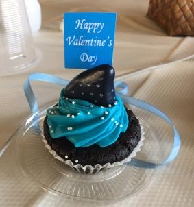 Valentins-Cupcake mit Walhaiflosse
