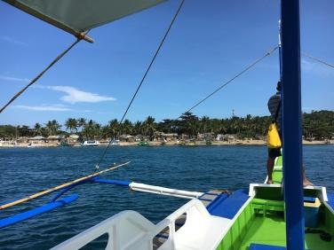 Sicht auf Carabao Islands Westküste, hier leider beim Abschied