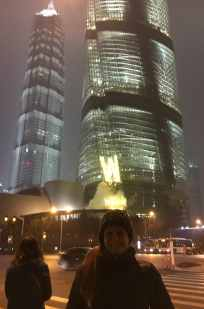 ...and I stand no chance to capture a picture with the whole colossal Shanghai Tower in the background...